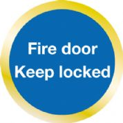 Fire Door Keep Locked Wall & Door Sign